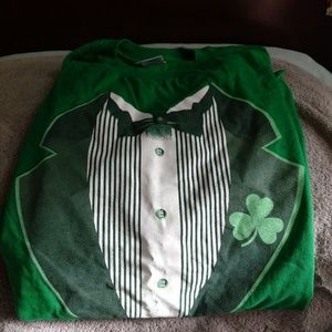 Other - Mens M green t-shirt for St. Patrick's Day